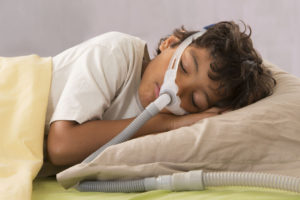 child using cpap